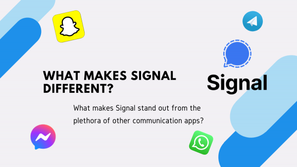 What makes Signal different?